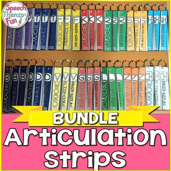 Articulation Strips - BUNDLE of 20 Initial Sounds