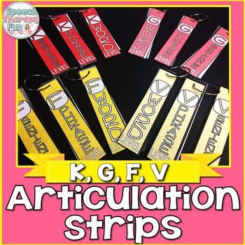 Articulation Strips - K, G, F, V