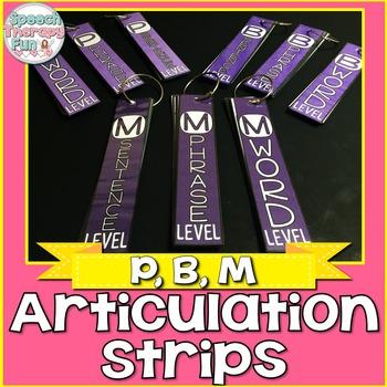 Articulation Strips - P, B, M