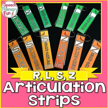 Articulation Strips - R, L, S, Z