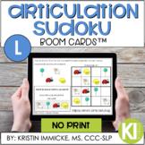 Articulation Sudoku /L/ BOOM CARD™ Deck - Distance Learning