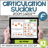 Articulation Sudoku /f/ BOOM CARD™ Deck - Distance Learning