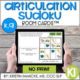 Articulation Sudoku /k,g/ Fronting BOOM CARD™ Deck - Dista