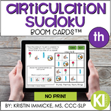 Articulation Sudoku /th/ BOOM CARD™ Deck - Distance Learning