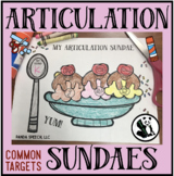 Articulation Sundaes! Speech Therapy Craft Activity