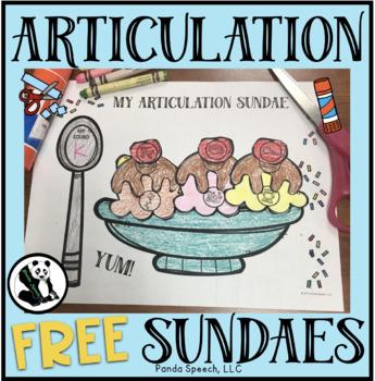 Articulation Sundaes! Speech Therapy Craft Activity /f/ Sample