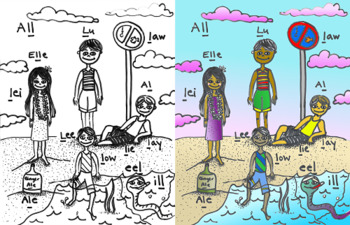 Articulation - Syllable L - Coloring Page and Poster - Phonology