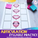 Articulation Syllable Practice Sheets