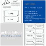 Articulation Synonyms & Antonyms S Sound/Phoneme