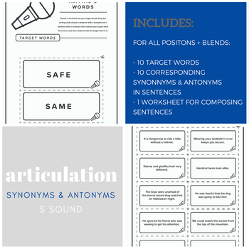 Articulation Synonyms and Antonyms GROWING BUNDLE