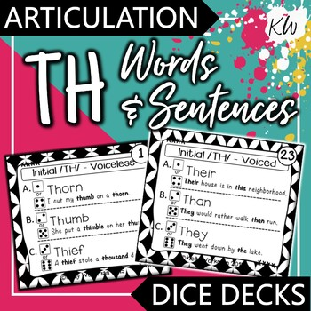 Articulation TH Speech Therapy Game
