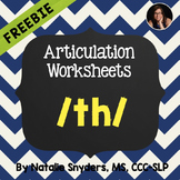 Articulation - TH Sound Homework Pages (Dots Game and Word