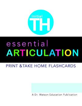 Articulation TH word Flashcards