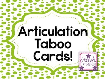 Articulation Taboo Cards