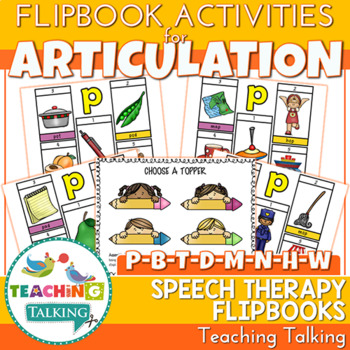 "Articulation ""Take Home"" Flipbooks - Early Sounds"