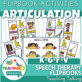 "Articulation ""Take Home"" Flipbooks - K,G,F,V"