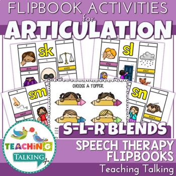 "Articulation ""Take Home"" Flip Books - S, L & R Blends"