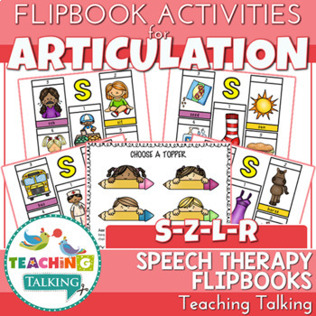 "Articulation ""Take Home"" Flipbooks - S, Z, L & R"