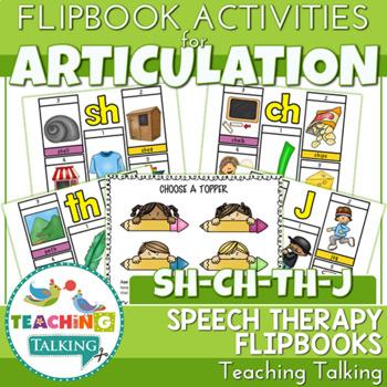 "Articulation ""Take Home"" Flipbooks - SH, CH, TH & J"