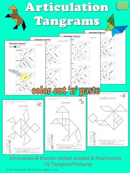 Articulation Tangrams: Interactive Color Cut 'n' Paste Block Patterns