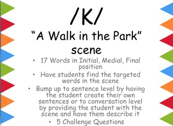 """FREE Find it, Say it Articulation: """"K"""" with visual scene"""