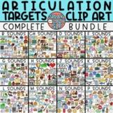 Articulation Targets Clip Art COMPLETE BUNDLE • Speech The