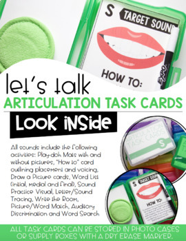 Articulation Task Cards- Later Developing Sounds