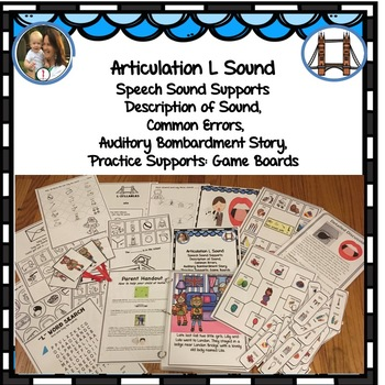 Articulation: The L sound Auditory Bombardment Story Supports