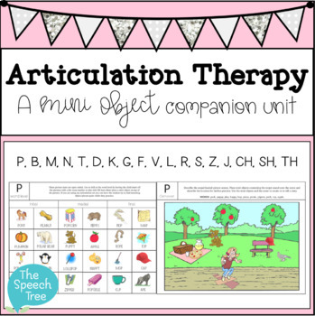 Articulation Therapy Companion for Mini Objects Speech Therapy