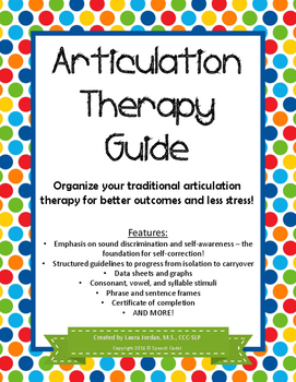 Articulation Therapy Guide (Fully Expanded!) - Great for C