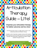Articulation Therapy Guide (Lite)