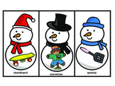 Articulation Therapy - Snowman-themed artic cards for /s/ clusters