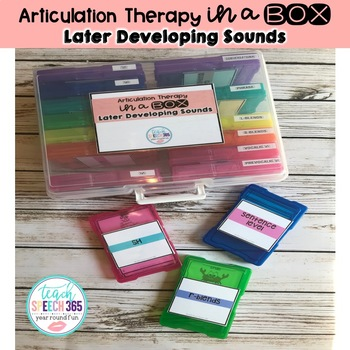 Articulation Therapy in a Box: Later Developing Sounds