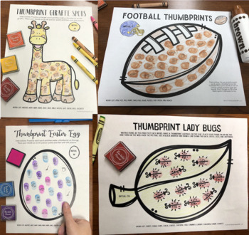 Articulation Thumbprints BUNDLE 2: A Speech Therapy Art Activities