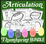 Articulation Thumbprints BUNDLE 2: A Speech Therapy Art Ac