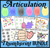 Articulation Thumbprints BUNDLE 1: A Speech Therapy Craft