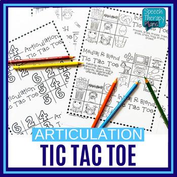 No Prep Articulation Tic Tac Toe - 14 Sounds