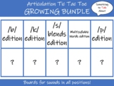 Articulation Tic-Tac-Toe:  GROWING BUNDLE