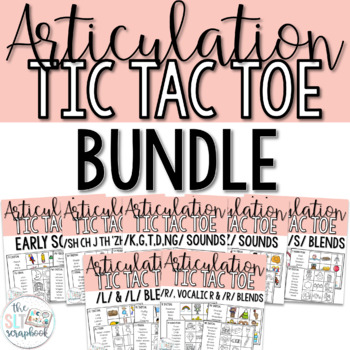 Articulation Game- Tic Tac Toe Bundle for all sounds