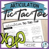 Articulation Tic-Tac-Toe - J sound *FREEBIE