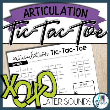 Articulation Tic-Tac-Toe Set