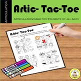 Articulation Tic Tac Toe Speech Therapy Game and Homework