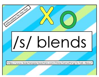 Articulation Tic-Tac-Toe:  /s/ blends