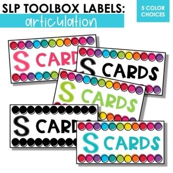 Articulation Toolbox Labels for SLPs