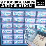 Articulation Cards Toolbox Labels for SLPs