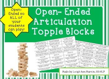 Articulation Topple Blocks