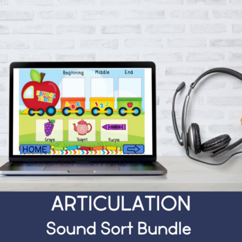 Articulation Train Bundle (F,V,T,D,K,G,P,B,SH,CH,L) (Boom Cards) (No Print)
