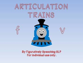 Articulation Trains for /f/ and /v/