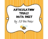Articulation Data Sheet Progress Monitoring