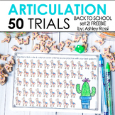 Articulation & Apraxia Trials for BTS: 50 Challenge